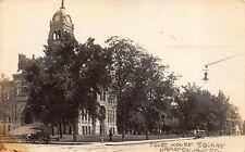 Real Photo Postcard Court House Square in Hampton, Iowa~121691