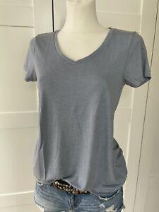 SCOTCH MAISON weichfließendes T-Shirt Gr.2/M/38 Blau-grau V-Ausschnitt TOP