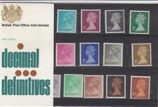 GB 1971 DEFINITIVE MACHIN PRESENTATION PACK No.37 1/2p to 10p MINT STAMP SET #37