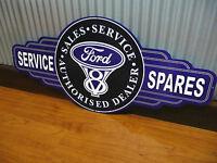 Ford V8 Sales Service Spares metal tin sign bar garage man cave GT XA XB XC 351