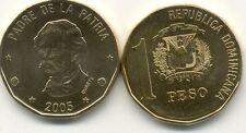 Pièce coin REPUBLIQUE DOMINICAINE DOMINICAN DOMINICANA 1 peso 2005 NEUVE UNC