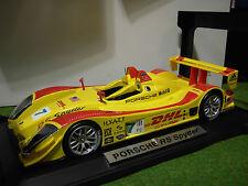 PORSCHE RS SPYDER # 7 jaune à l'échelle 1/18 NOREV 187516 voiture miniature