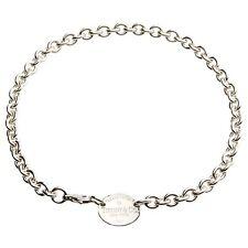 """Tiffany & Co.argento sterling 925 """" RESTITUZIONE """" OVALE MEDAGLIETTA"""