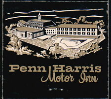 HARRISBURG PA Penn Harris Motor Inn & Restaurant Vintage Match Book Cover Old
