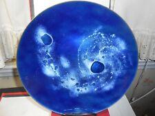 Mid-Century Blue Enamel Highlights On Copper Plate Heaven & Stars? Look Wow