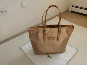 Longchamp Large PVC Beige Shoulder Bag Made in France