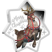 2019 Christmas Star-Shaped 1oz Silver Proof Coin