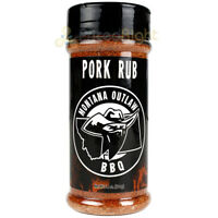 Montana Outlaw Barbeque Pork Rub Seasoning 7.4 Oz Award Winning Blend MSG Free