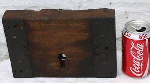 RECLAIMED ANTIQUE WOOD WOODEN & METAL DOOR LOCK DECORATED PANELS - AS IS