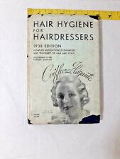 Vintage Hair Hygiene for Hairdressers Book 1938 Edition Parker Herbex Method