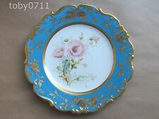 CAULDON CABINET PLATE FLORAL DESIGN WITH GILT ENCRUSTED BORDER (Ref1509)