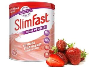 SlimFast Strawberry Diet Meal Replacement Weight Loss Slim Fast Powder Shake