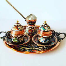 Turkish Ottoman Coffee Serving Set Copper Cup Saucer Coffee Maker Pot Set