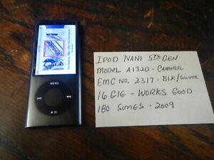Apple iPod nano 5th Generation Black (16 GB) Space Gray Works Camera Model A1320
