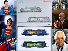Marklin AC HO DB E-101 & D-185 SUPERMAN & LEX LUTHOR LOCOMOTIVE Set MIB TOP RARE