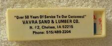 Vavra Sand & Lumber,Chelsea,Iowa IA,50 Years of Service to Customers Advertising