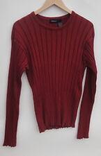 Claiborne Crewneck Burgundy Men's Sweaters Size-XL