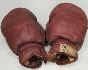 Vintage OK Brand Boxing Gloves - Man Cave, Workout Room, Game Room Decoration
