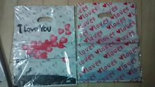 I LOVE YOU hearts clothes bags, hot sell style Plastic bags Free ship 100pcs/lot