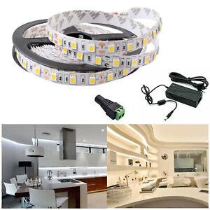 5m-20m LED Stripe Set 2835 SMD Band Leiste Streifen warm kalt weiß Netzteil 12V