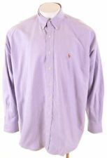 RALPH LAUREN Mens Shirt XL Purple Cotton Loose Fit Blake NT07