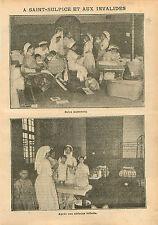 Infirmière Croix Rouge Soins Maternels Saint-Sulpice Invalides 1910 ILLUSTRATION