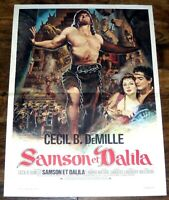 SAMSON & DALiLA Cecil B. DeMille Victor Mature  Hedy Lamarr SMALL french POSTER