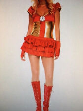 Womens Sexy IRON MAN IRON WOMAN AVENGERS MARVEL Fancy Dress Costume Outfit