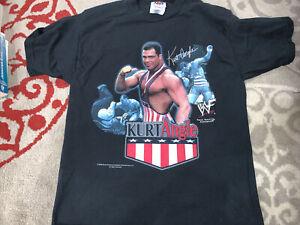 Vintage WWF Kurt Angle Tshirt Wrestling WWE Shirt Tee 2000 Size Large 14/16