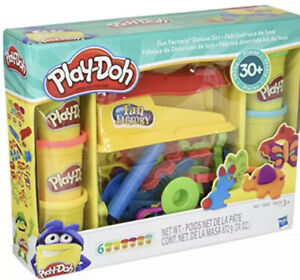 Play-Doh Fun Factory Deluxe Set 30+ Pieces New Sealed