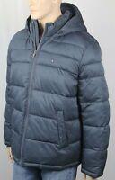 Tommy Hilfiger Blue Ultra Loft Hooded Ski Puffer Coat Wind Resistant NWT $225