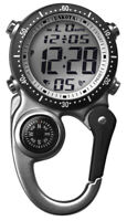 NEW Dakota Watch Digi Clip with Plastic Carabiner Moonglow in Silver Color