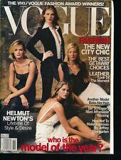 VOGUE November 2000 Fashion Magazine SUPERMODELS Cover by ANNIE LEIBOVITZ VF