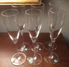 6 - TIFFANY CRYSTAL CLASSIC Y SHAPE CHAMPAGNE FLUTES Glasses
