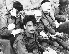 WWII B&W Photo American Wounded Omaha Beach D-Day   World War Two WW2 / 1275