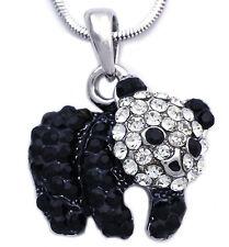 Black Clear Baby Panda Bear Animal Charm Pendant Necklace Fashion Jewelry n2036