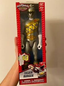 "Power Rangers Dino Super Charge Silver Ranger 12"" Inch Action Figure"