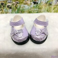 Yo SD bjd Doll MCC Butterfly Bow Flower Strap Shoes Purple (for Foot 4.5cm long)