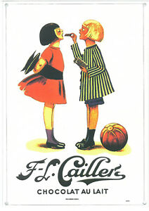 French Provincial Chocolat au Lait  A4 Metal Repro Sign 010142