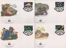 Marshall Islands 1986 WWF - Marine Life - Shells - 4 First Day Covers FDC - (13)
