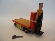 Vintage Very Rare Wind Up Tin Toy Flatbed Trolleys Platform Leningrad USSR