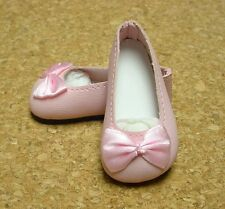 Doll Shoes 46mm WHITE Side Bow Mary Janes for Ann Estelle Others