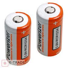 2x Battery   // 1600mAh CR123A 16340 3.6V Li-ion Battery  (2x 800mAh)