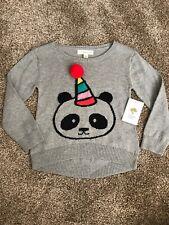 NWT Tucker + Tate Panda Bear Sweater Toddler Size 2 Party Hat Pom Pom