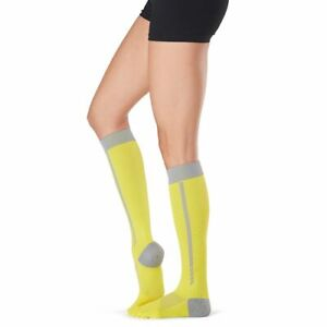 New TOESOX Womens ZOE Full Toe KNEE HIGH Sport Compression Socks (DAYLIGHT) Med
