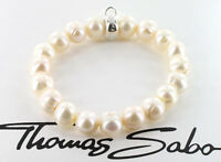 Thomas Sabo Charm Perlen Armband X0041-082-14-M, 925/- Sterling Silber,  NEU