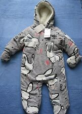 NEXT Baby Girls Bunny Snowsuit 3-6 months BNWT