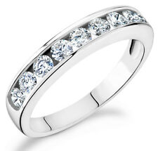 Diamond 1Ct Channel set eternity band in 14k white gold Ca-100W