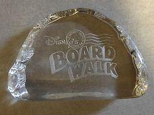 Pin Classic Disney Board Walk Resort 3-D Crystal Glass Paper Weight Retired Rare