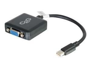 C2G 20cm Mini Displayport Mâle Vers VGA Femelle Adaptateur Convertisseur Noir -